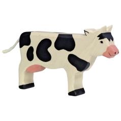 Holztiger Kuh stehend, schwarz Holztiger 80003