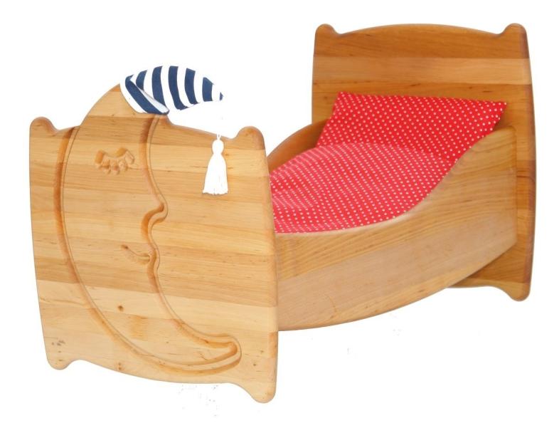 drewart holz puppenbett mond drewart 3008. Black Bedroom Furniture Sets. Home Design Ideas
