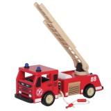 Holzfahrzeug Holz Feuerwehrauto 88703