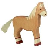 Holztiger Pferd stehend, hellbraun Holztiger 80033