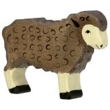 Holztiger Schaf schwarz,stehend Holztiger 80075