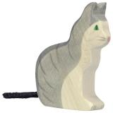 Holztiger Katze sitzend Holztiger 80055