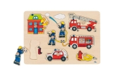 Goki Holz Puzzle Feuerwehr Goki 57907